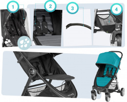 Wózek spacerowy Baby Jogger City Mini 2 4W Sepia