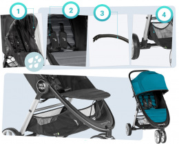 Wózek spacerowy Baby Jogger City Mini 2 Single Sepia
