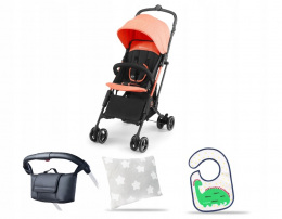 WÓZEK SPACEROWY KINDERKRAFT MINI DOT CORAL +GRATIS