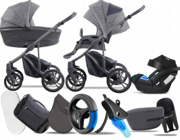 BEBETTO 3W1 NEW 2020 BRESSO | CYBEX ATON 5+ PAKIET