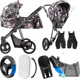 BEBETTO 2W1 FLAVIO 01 FLOWERS |+ ADAPTERY CYBEX MC