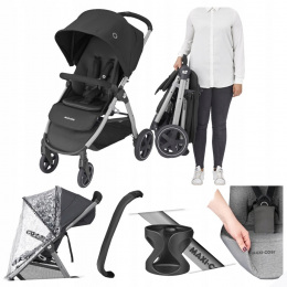 WÓZEK SPACEROWY MAXI-COSI GIA ESSENTIAL BLACK