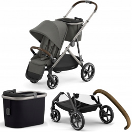 WÓZEK SPACEROWY CYBEX GAZELLE S TPE 01 SOHO GREY