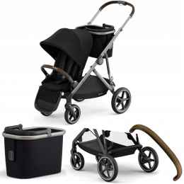 WÓZEK SPACEROWY CYBEX GAZELLE S TPE 03 DEEP BLACK