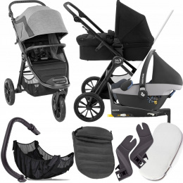 BABY JOGGER 4W1 CITY ELITE 2 BARRE I PEBBLE + BAZA