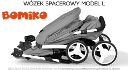 Wózek spacerowy Bomiko Model L kolor 07 Grey
