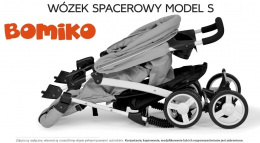 Wózek spacerowy Bomiko Model S kolor 07 Grey