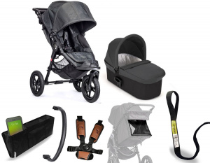 Wózek 2w1 głęboko spacerowy Baby Jogger City Elite Charcoal (Denim) + gondola Deluxe