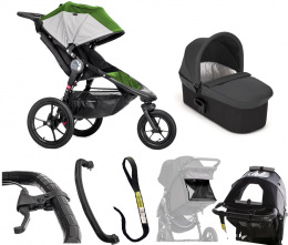 Wózek 2w1 do biegania Summit X3 Green/Gray + gondola Deluxe Baby Jogger
