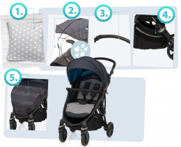 Wózek spacerowy Baby Design Smart 17 Graphite